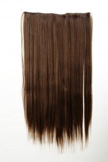 Haarteil Haarverlängerung breit 5 Clips dicht glatt Goldbraun 60 cm L30172-12