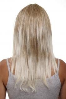 Clip-in Haarteil mit 5 Klammern, 3/4 Perücke, Blond-Mix, ca. 50cm HD1401-27T613
