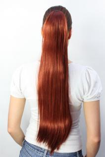 Haarteil/Zopf, rotes, sehr langes, glatt, Butterfly-Klammer, ca. 70 cm, T113-350