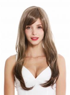 Damenperücke Perücke Damen lang Scheitel braun blond gesträhnt GFW2648-24T8