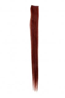 1 CLIP Extension Strähne glatt Rot Dunkelrot YZF-P1S18-35 45cm Haarverlängerung