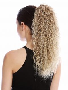 Haarteil Zopf voluminös lockig Krepplocken gekreppt Blond Hellblond Strähnen 45c