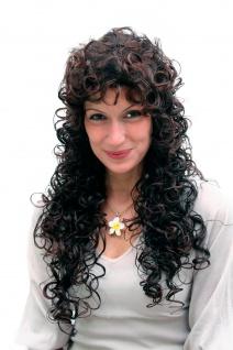 Damenperücke braun brünett stark gelockt Wig sehr lang Latina Wig 65cm 9229-2T33