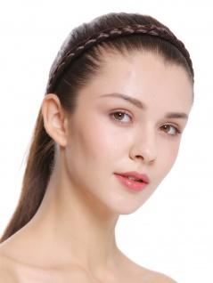 Haarband Haarreif geflochten Tracht traditionell braun braid CXT-008-006