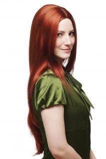 Perücke kupfer-rot glatt sehr lang strenger Scheitel Haarersatz 75 cm 3217-350