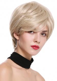 WIG ME UP Damenperücke Perücke kurz voll Volumen glatt Blond Platin gesträhnt
