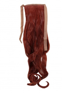 Haarteil ZOPF Rot wellig 45cm YZF-TC18-35 Band Haar Klammer Haarverlängerung