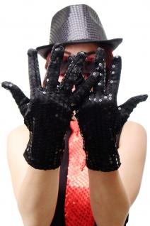 Handschuhe Fasching Karneval Revue Cabaret Pailletten Schwarz 20er VQ-021-BLACK