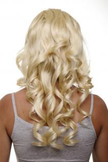 Clip-in Haarteil mit 7 Klammern 3/4 Perücke Blond Gold-Lichtblond 50cm H9503-88E