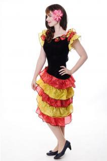 DRESS ME UP - Kostüm Damen Tango Tangotänzerin Carmen Kleid Bolero Gr. S/M L214 - Vorschau 2