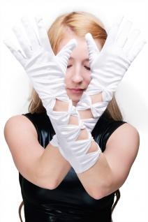 Karneval Handschuhe Damenhandschuhe lang Oper Burlesque Strahlend Weiß Z072
