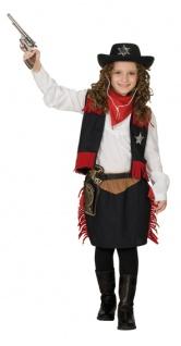Rubies: Cowgirl Kinderkostüm 2tlg. Modell 1/2396 Kostüm Western Cowboy Sheriff