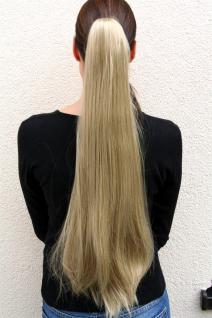Haarteil/ZOPF, EXTREM LANG, glatt fallend, Blond, Butterfly-Klammer, ca 70 cm, T113-24
