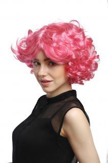 Perücke Damen Karneval Fasching Cosplay kurz pink rosa Locken Volumen Popstar - Vorschau 2