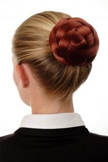 Dutt Haarteil aufwendig geflochten Haarknoten Brautschmuck Kupfer-Rot Q399D-350 - Vorschau 2
