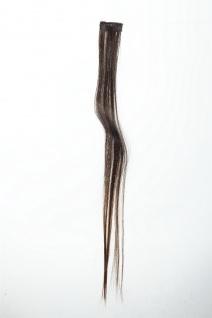 1 Clip-In Extension Strähne Haarverlängerung glatt 45cm Ombre zweifarbig Braun