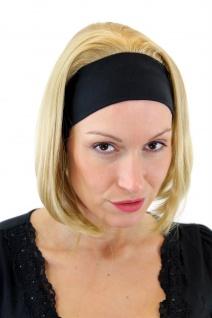 Perücke Damen Frauen Stirnband Retro Blond Schulterlang kurz 30 cm GFW948H-86
