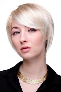 Damen Perücke cool blond kurz sexy Scheitel Kurzhaarschnitt Frisur 6082-27T613