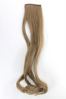 2 Clips Extension Strähne wellig Asch-Blond YZF-P2C18-16 45cm Haarverlängerung