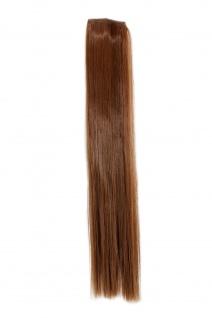 2 Clips Extension Strähne glatt Dunkel-Asch-Blond YZF-P2S18-12 45cm Verlängerung