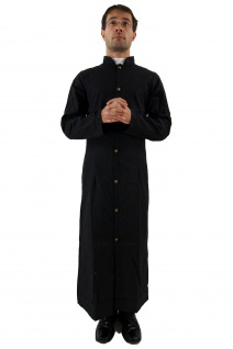 Kostüm Priester Pfarrer Pastor Kirche Geistlicher schwarz Fasching Karneval K21