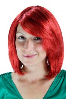Damenperücke Wig rot toupiert Seitenscheitel kurz glatt Haarersatz 30cm 1215-137