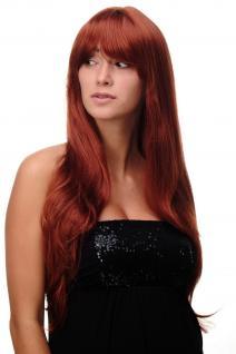 Perücke Rot Kupferrot lang Scheitel sexy Wig ca. 70cm 3111-350