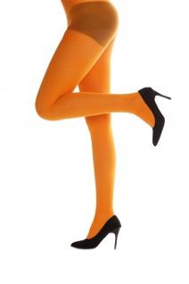 Strumpfhose Pantyhose Damenkostüm Karneval Halloween dehnbar orange WZ-012O