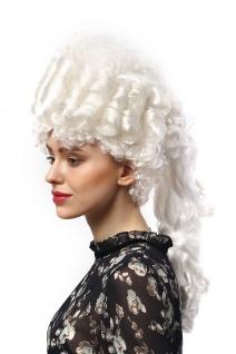 Perücke Damen Karneval Historisch Barock weiß Marie Antoinette Turmfrisur Adel - Vorschau 4