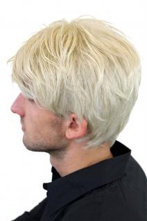 Perücke Herren Männer Kurz Jugendlich Lässig Modisch Blond Scheitel GFW967-22 - Vorschau 3