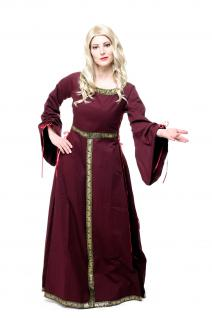 Kostüm Damenkostüm Kleid Mittelalter Romanik Gotik Gothic Burgdame Edelfrau L054
