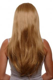 Clip-in Haarteil 7 Klammern 3/4 Perücke glatt lang Blond Aschblond 60cm H9505-19