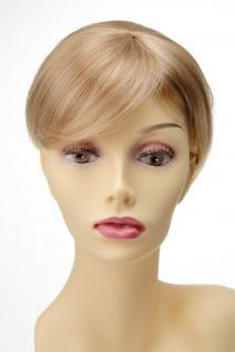 Haarteil Toupet Haarersatz Aufsatz Toupet Clip-In Blond Mix Q022-GGO-27T613