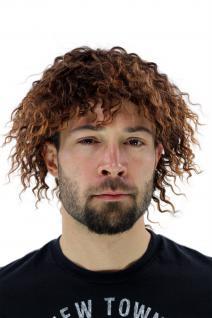 Herrenperücke retro KARIBIK Locken braun Fußballspieler