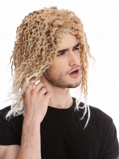 Perücke Herren Damen Karneval Beach Hippie Karibik Locken Rasta Blond gebleicht