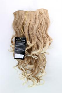 Clip-in Haarteil mit 7 Klammern, 3/4 Perücke, blond, Länge: ca. 50 cm, H9503-27
