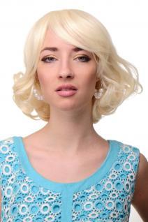 WIG ME UP - Sexy Retro Damenperücke Perücke Lichtblond Blond Schulterlang Wellig