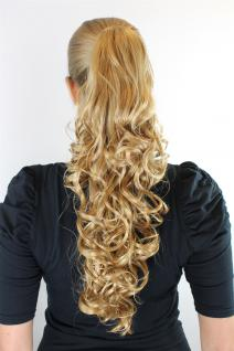 Haarteil Zopf Blond ca. 50cm lang Butterfly-Clip Ponytail Extension XF-9003-225