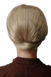 Dutt Haarknoten breit Halbperücke Haaraufsatz 50er 60er Turmfrisur Aschblond