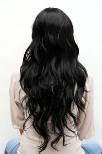 Perücke schwarz langes Haar 9317-1B - Vorschau 4
