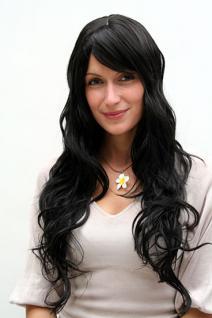 Perücke schwarz langes Haar 9317-1B