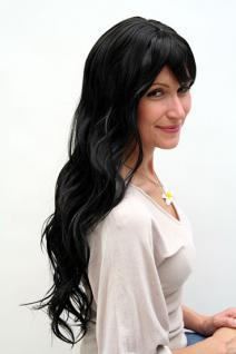 Perücke schwarz langes Haar 9317-1B - Vorschau 2