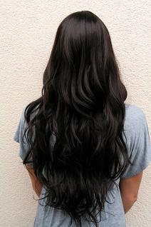 Perücke braun langes Haar 9317-4 - Vorschau 4