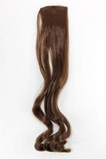 2 Clips Extension Strähne wellig Hell-Braun YZF-P2C18-8 45cm Haarverlängerung