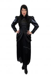 Kostüm Damenkostüm Kleid 80er New Wave Gothic Lolita Barock Hexe Vampirin L002 - Vorschau 2