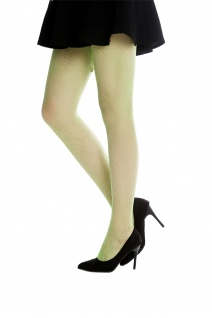 Netz-Strumpfhose Pantyhose Damenkostüm Karneval Halloween grün S/M W-020B-green