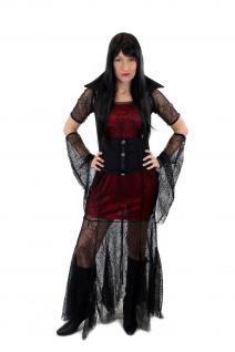 Aufwändig & Sexy Kostüm Kleid Böse Hexe Vampirin Gothic Vamp Witch Märchen L007 - Vorschau 5