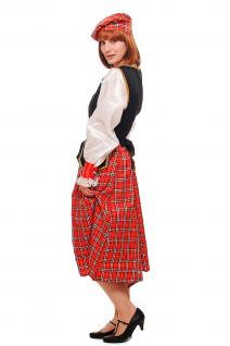 Kostüm Damen Damenkostüm Schotte Schottin Scotswoman Schottland Scot K46 - Vorschau 2