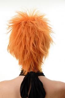 Damenperücke Perücke kurz toupiert wilde Strähnen 80er Wave Punk Orange BLUE144 - Vorschau 4