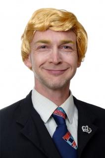 Perücke Herren Karneval US President Präsident Reality Soap Darsteller Blond